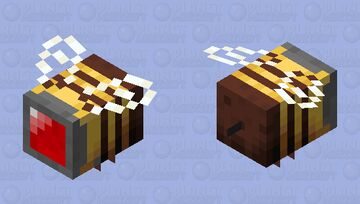 Bee camera angry Minecraft Mob Skin