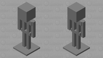 Gray Armor Stand Minecraft Mob Skin