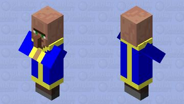 Vault Dweller (Sry if the Hood shows up) Minecraft Mob Skin