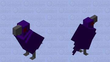 Purple Raven Minecraft Mob Skin