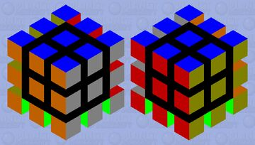 Solved Rubik's Cube Minecraft Mob Skin