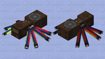 Wooden Sound System Spider Minecraft Mob Skin