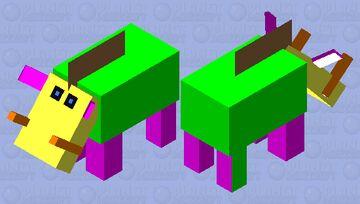 Very odd multi colored Hoglin Minecraft Mob Skin