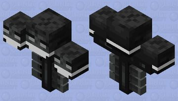 whither whith covid-19 mask Minecraft Mob Skin