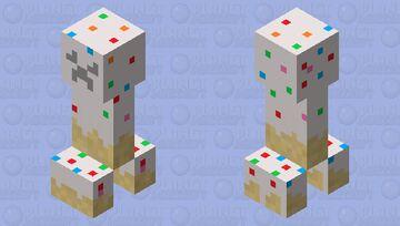 Creeper made of cake Minecraft Mob Skin