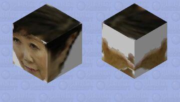 小池 百合子 Yoriko Koike Gives You A Blessing Minecraft Mob Skin