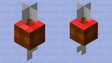 Arrow Through Piece of Ham Minecraft Mob Skin
