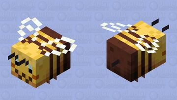 Remade Bee Minecraft Mob Skin