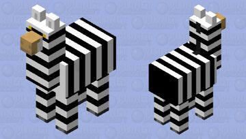 Cape mountain zebra Minecraft Mob Skin