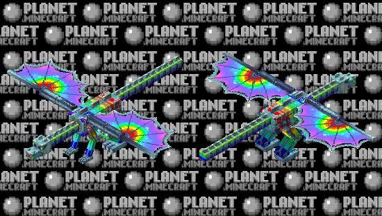rainbow cyborg dragon Minecraft Skin