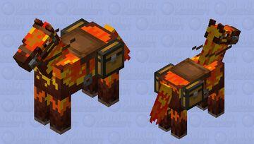 fire horse Minecraft Mob Skin