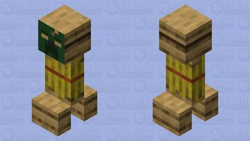 Scarecrow Creeper Minecraft Mob Skin