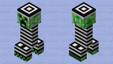 Prisoner creeper Minecraft Mob Skin