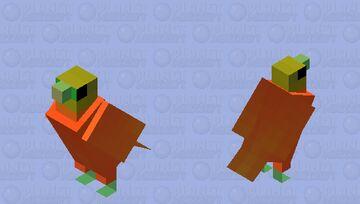 Pombo-fruta-laranja (Ptilinopus victor) Minecraft Mob Skin