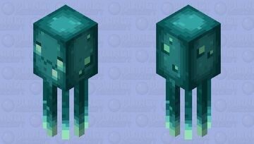 UWU glow squid Minecraft Mob Skin