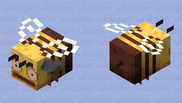 Bee Check (Angry Bee) Minecraft Mob Skin