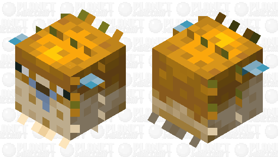 Pufferfish, except it's even more derpy than before Minecraft Skin
