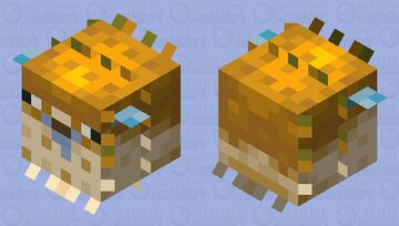 Pufferfish, except it's even more derpy than before Minecraft Mob Skin