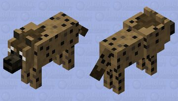 Tame Spotted Hyena Minecraft Mob Skin