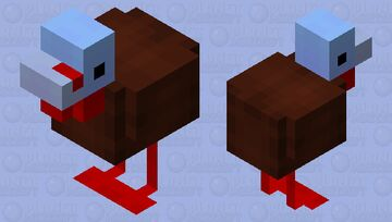 Ted the Turkey Minecraft Mob Skin
