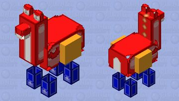 red yoshi a gift for csolarstorm Minecraft Mob Skin
