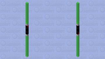 Dual green Lightsaber Minecraft Mob Skin