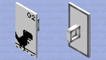 Shield of Chrome Dino Day Theme Minecraft Mob Skin
