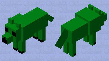 My green creepwolf Minecraft Mob Skin