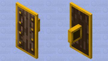 Golden-Lined Dark Oak Shield Minecraft Mob Skin