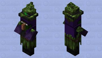 Isn't it strange that the witch didn't get a texture update? Minecraft Mob Skin
