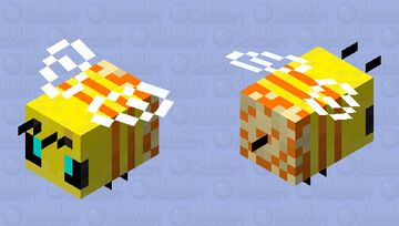 Traffic Bee- Pollenator Version Minecraft Mob Skin