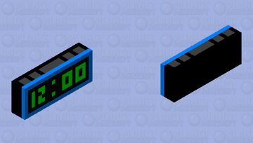 Alarm Clock Minecraft Mob Skin