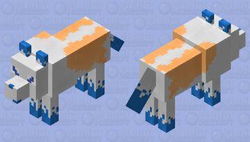 Skya The SkyFire Wolf Minecraft Mob Skin