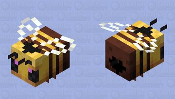 Heart Bee Minecraft Mob Skin