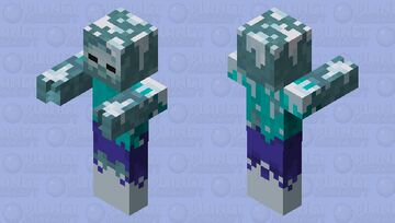 ice zombie(for Dungeons) Minecraft Mob Skin