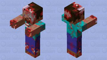 A real zombie revamped Minecraft Mob Skin