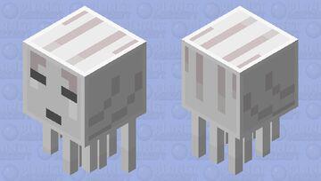 8-Bit Simplistic Ghast Minecraft Mob Skin