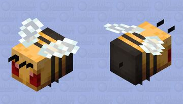 The angry bee Minecraft Mob Skin
