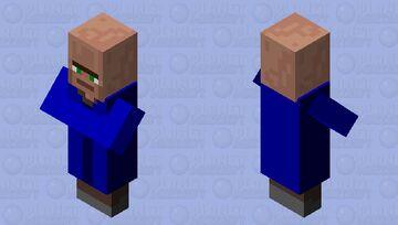 Blue flat face Minecraft Mob Skin