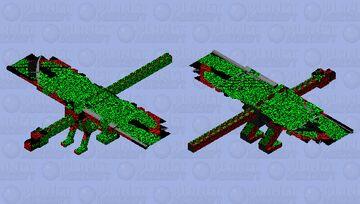 When a dragon crosses Santa Minecraft Mob Skin