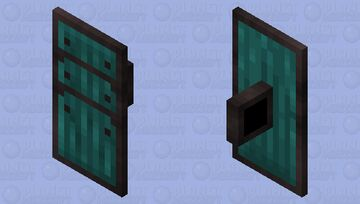 Netherite Warped Shield Minecraft Mob Skin
