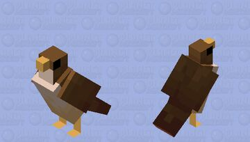 A falcon? Not a too intimidating one though Minecraft Mob Skin