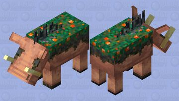 Warped Hoglin Corpse (added more color variation in the grey areas) Minecraft Mob Skin