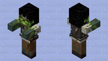 Radioactive Zombie Farmer Minecraft Mob Skin
