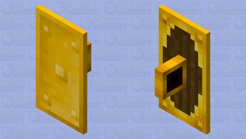 Gold Plated Shield +3 Metal Variants Minecraft Mob Skin