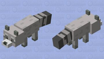 raccoon fox Minecraft Mob Skin