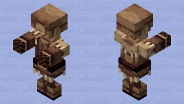 Halloween Zombie villager snow clothing Minecraft Mob Skin