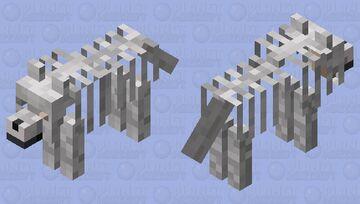 Skeleton Dog Minecraft Mob Skin