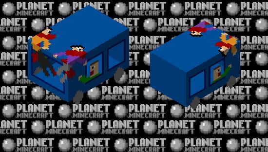 Train crashing into two innocent pedestrians Minecraft Skin