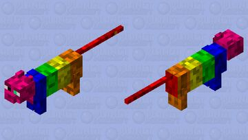 rainbow cat Minecraft Mob Skin